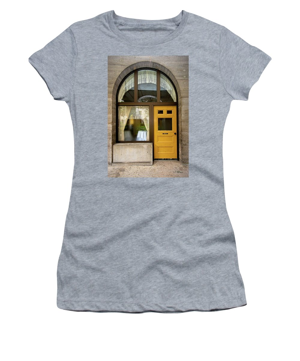 Shapes Women's T-Shirt (Athletic Fit) featuring the photograph Entry Geometrics by Christopher Holmes