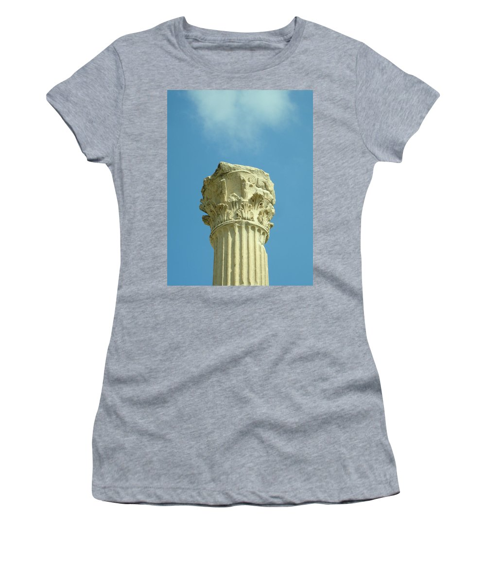 Column Women's T-Shirt (Athletic Fit) featuring the photograph Ephesian Column by Jennifer Kelly