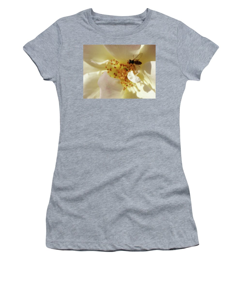 Flower Women's T-Shirt featuring the photograph Essence by Linda Shafer