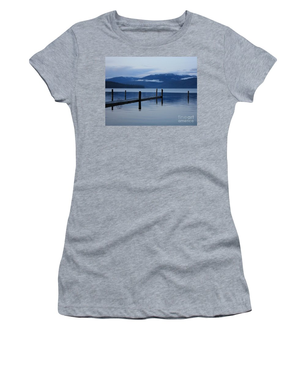 Priest Lake Women's T-Shirt featuring the photograph Tranquil Blue Priest Lake by Carol Groenen