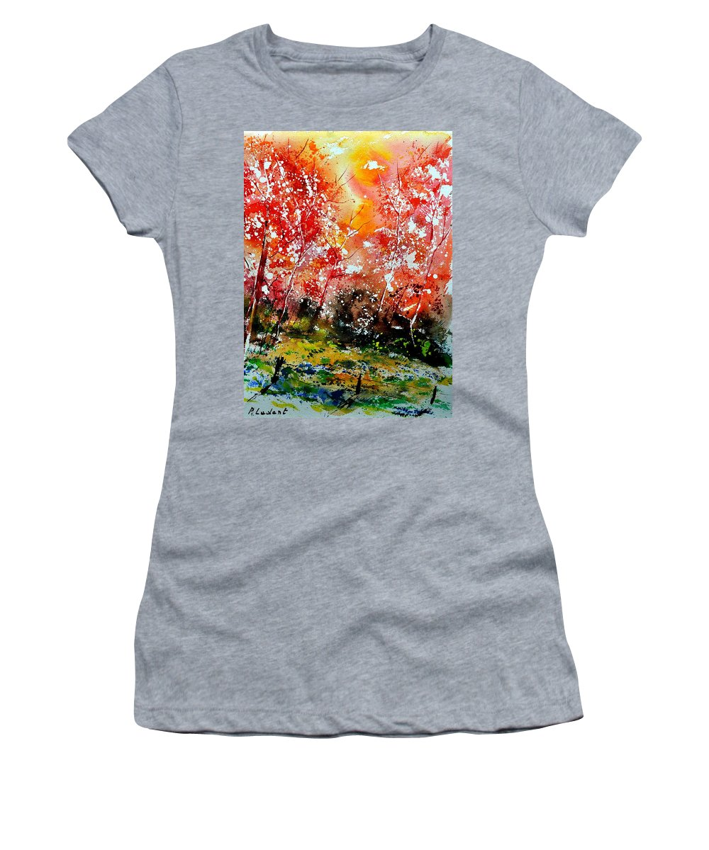 Nature Women's T-Shirt (Athletic Fit) featuring the painting Exploding Nature by Pol Ledent