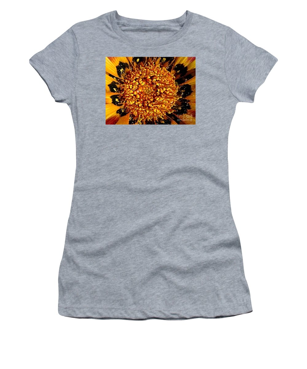 Macro Women's T-Shirt (Athletic Fit) featuring the photograph Explosion Of Color by Carol Groenen
