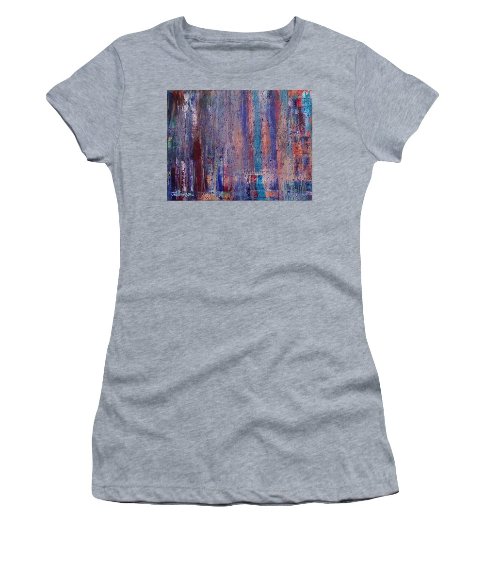 Abstract Women's T-Shirt featuring the painting Expression # 9 The Blues Down And Out by Jason Williamson