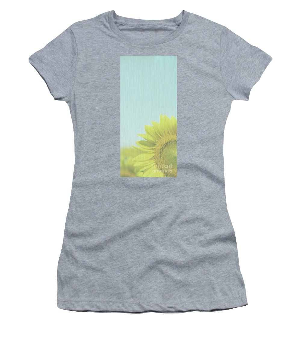 Sunflowers Women's T-Shirt (Athletic Fit) featuring the photograph Faded by Amanda Barcon