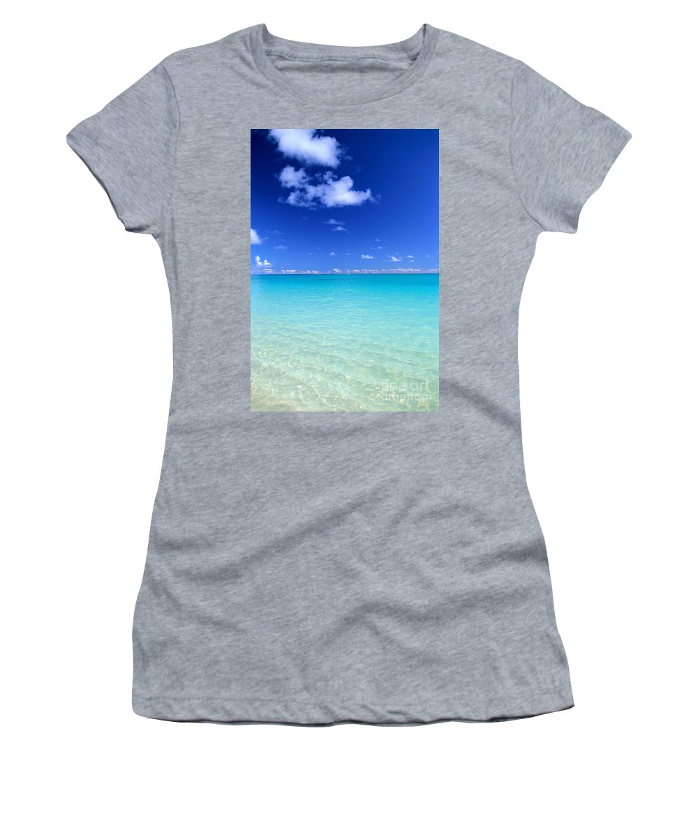 Afternoon Women's T-Shirt (Athletic Fit) featuring the photograph Fades To Turquoise by Dana Edmunds - Printscapes
