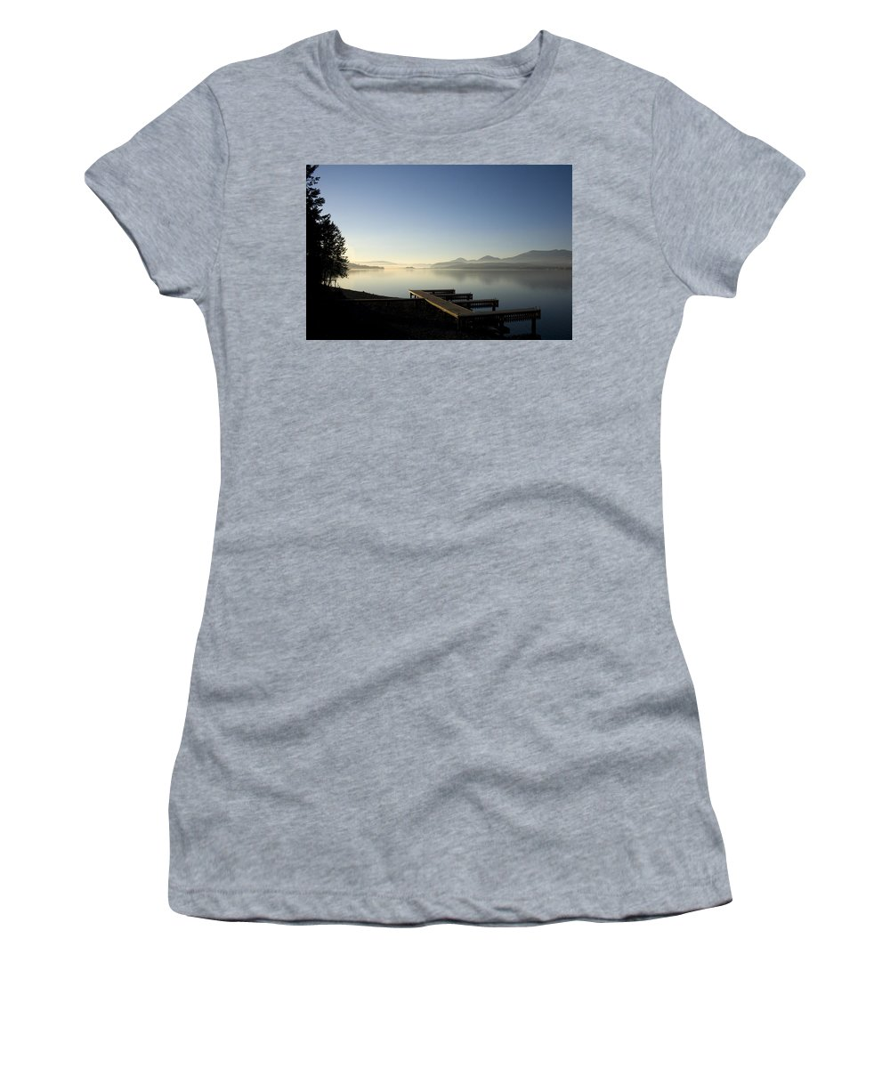 Landscape Women's T-Shirt (Athletic Fit) featuring the photograph Fall Evening by Lee Santa