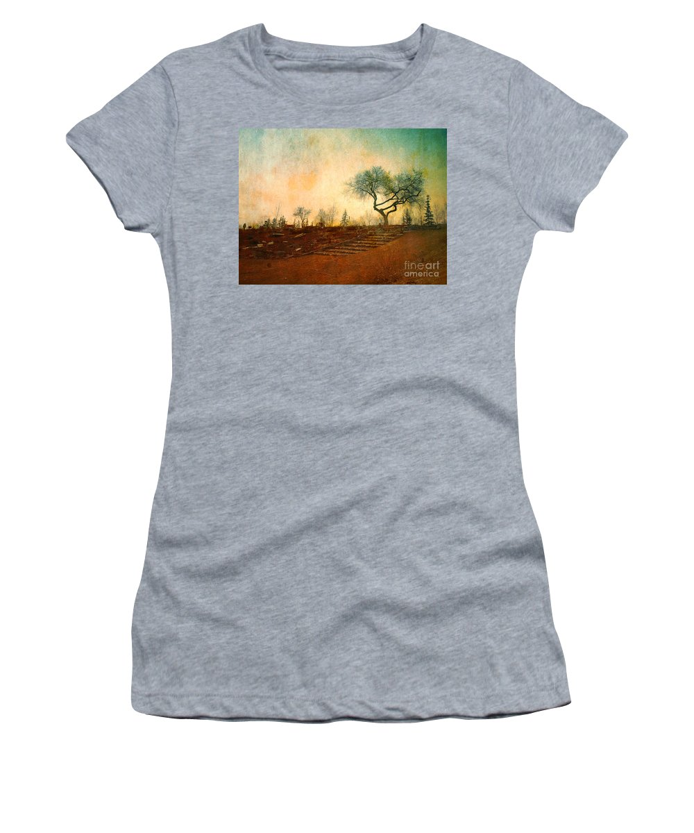 Tree Women's T-Shirt (Athletic Fit) featuring the photograph Familiar Like Home by Tara Turner