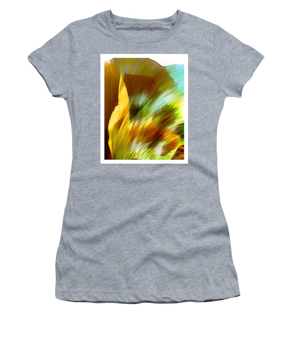 Landscape Digital Art Watercolor Water Color Mixed Media Women's T-Shirt featuring the digital art Feather by Anil Nene