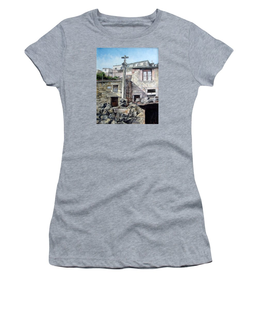Fermoselle Women's T-Shirt (Athletic Fit) featuring the painting Fermoselle.-crucero by Tomas Castano