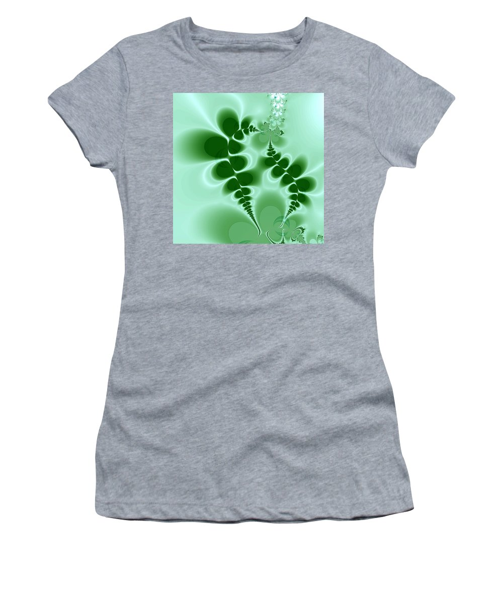 Digital Art Women's T-Shirt (Athletic Fit) featuring the digital art Ferns by Amanda Moore