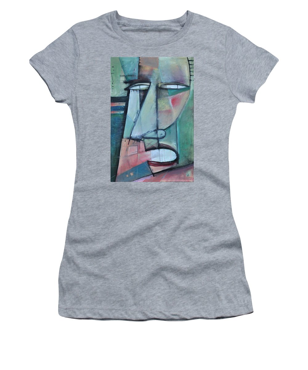 Face Women's T-Shirt (Athletic Fit) featuring the painting First Day North Of The Tension Line by Tim Nyberg