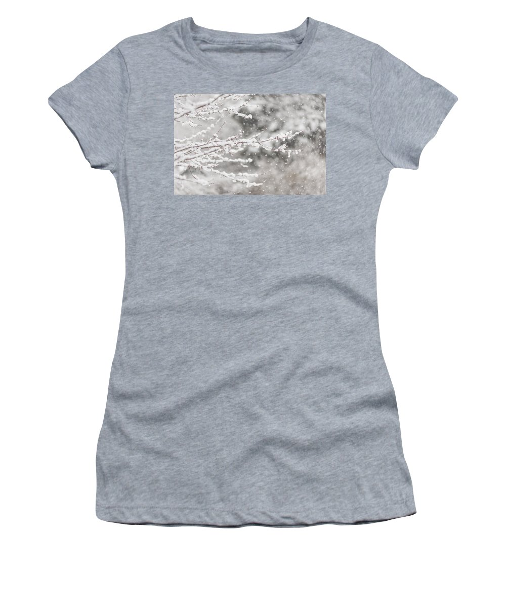 Terry Deluco Women's T-Shirt (Athletic Fit) featuring the photograph First Day Of Spring 2015 New Jersey by Terry DeLuco