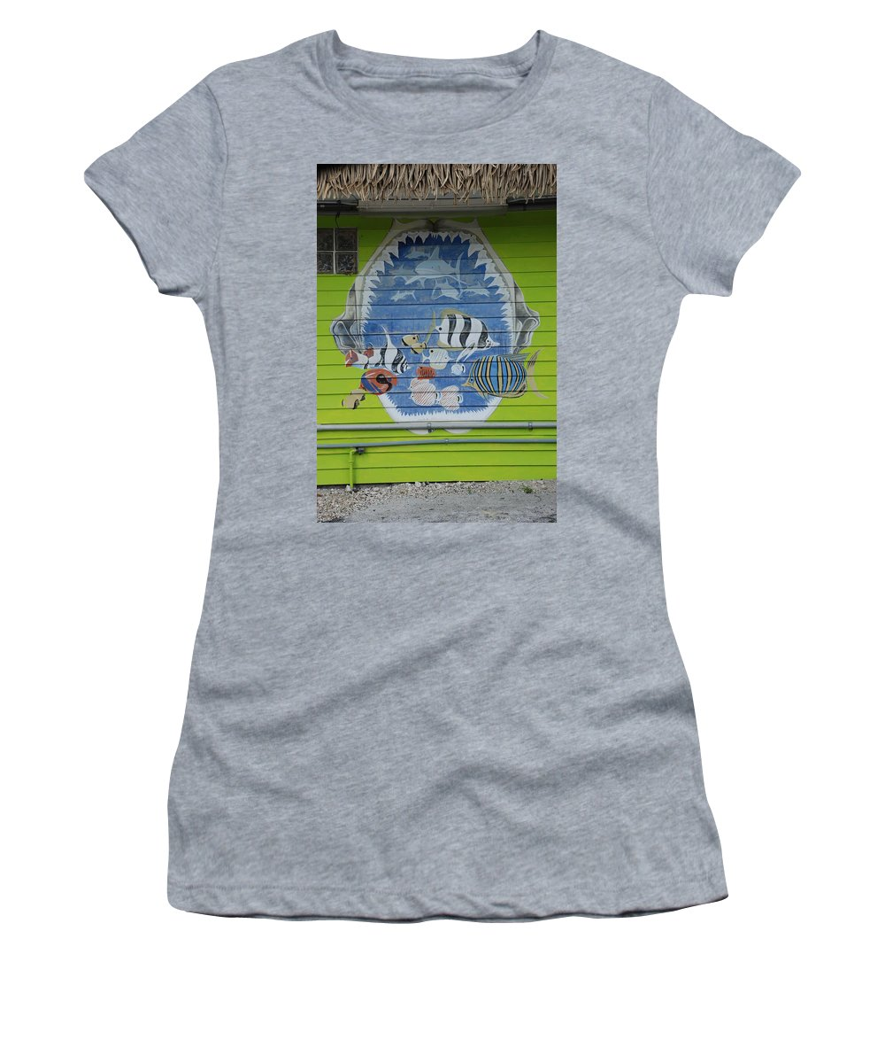 Teeth Women's T-Shirt (Athletic Fit) featuring the photograph Fish by Rob Hans