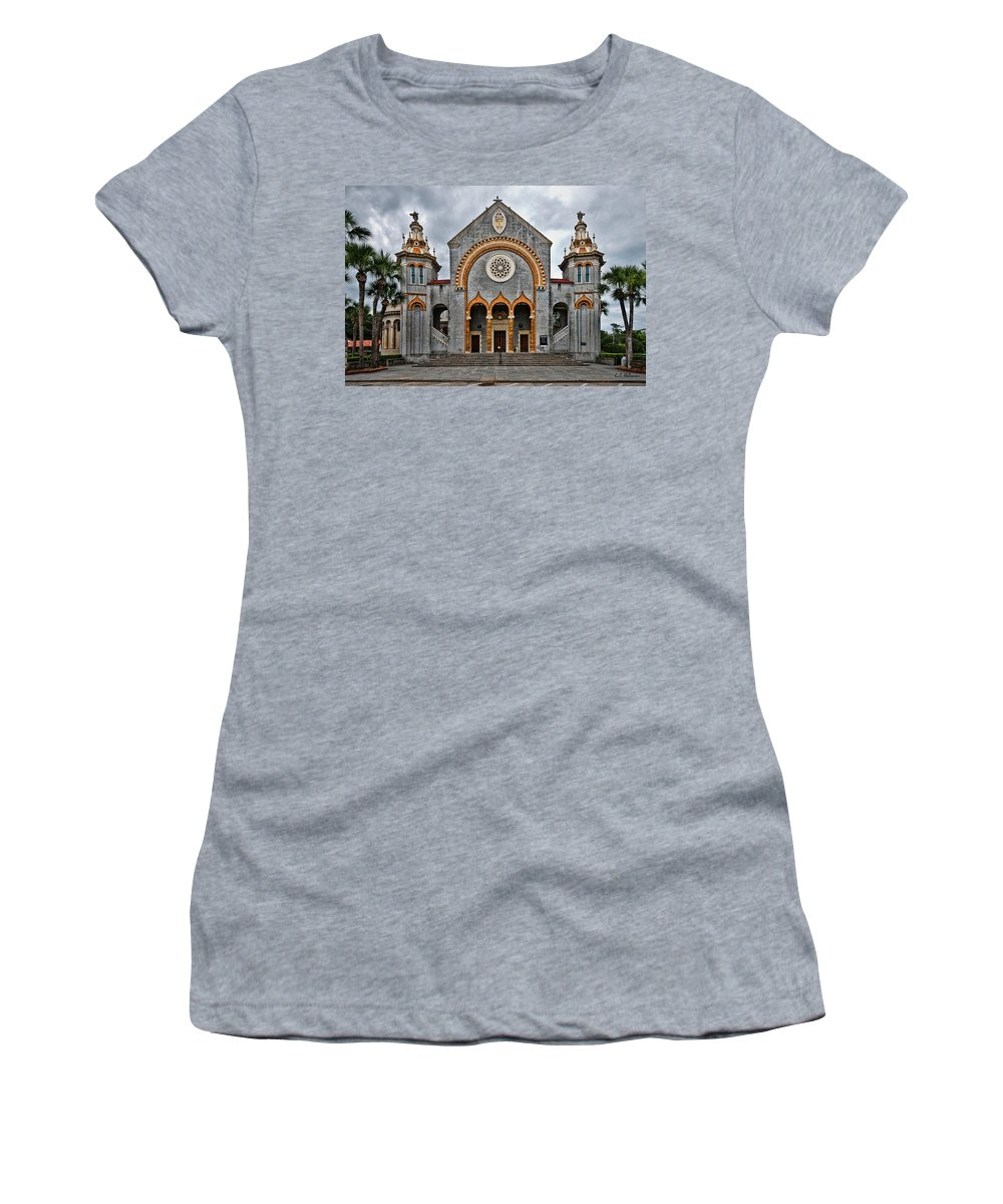 Church Women's T-Shirt featuring the photograph Flagler Memorial Presbyterian Church by Christopher Holmes