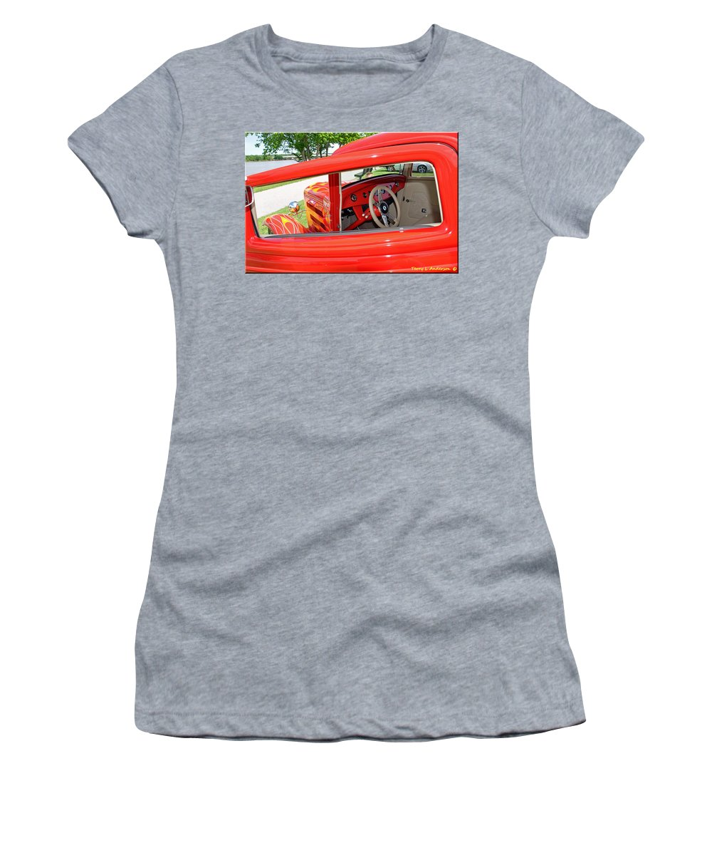 Flame Women's T-Shirt (Athletic Fit) featuring the photograph Flame by Terry Anderson