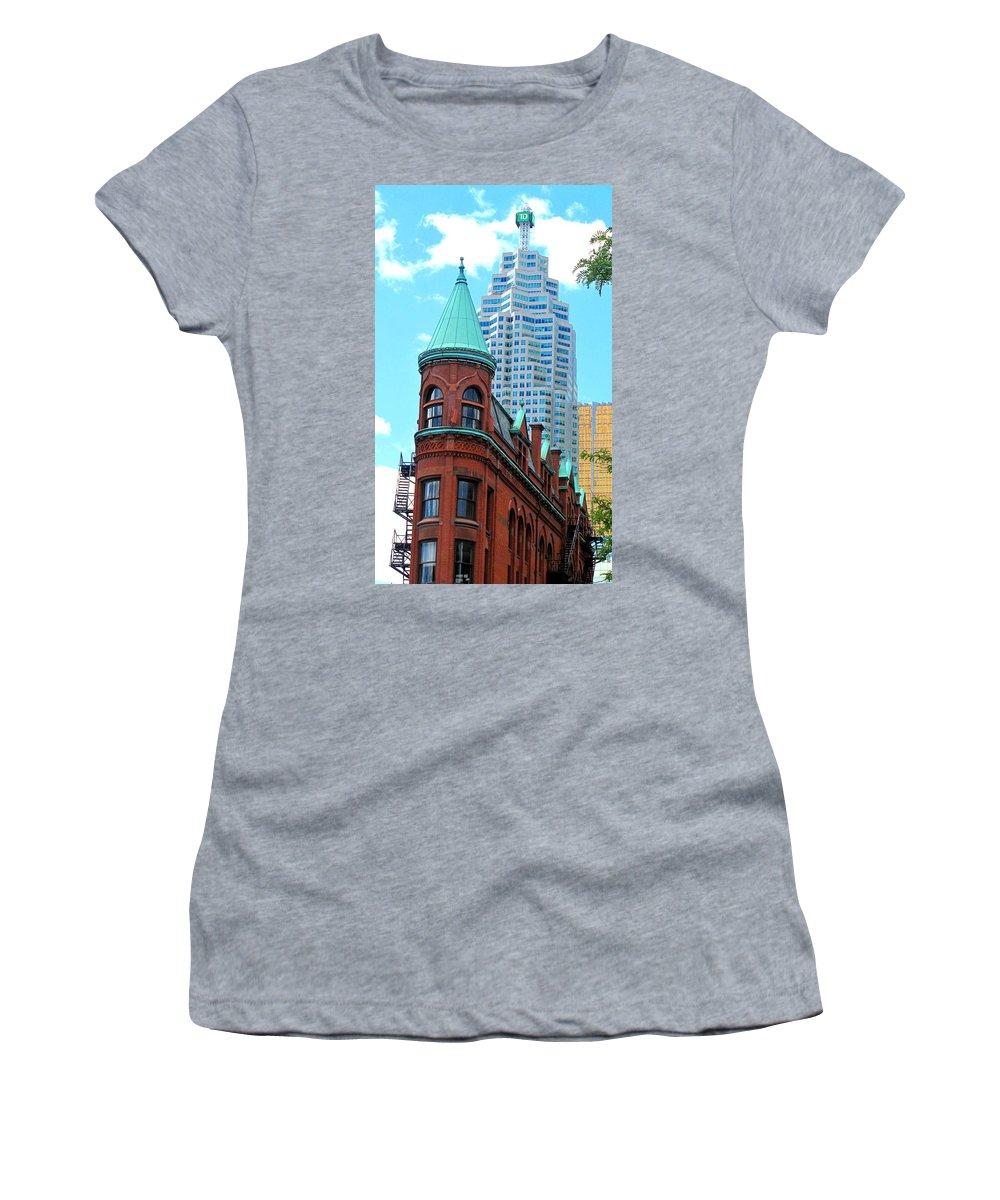 Flat Iron Building Women's T-Shirt featuring the photograph Flat Iron Building by Ian MacDonald