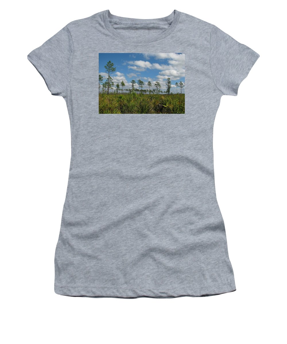 Nature Women's T-Shirt (Athletic Fit) featuring the photograph Flatwoods Scrub by Peg Urban
