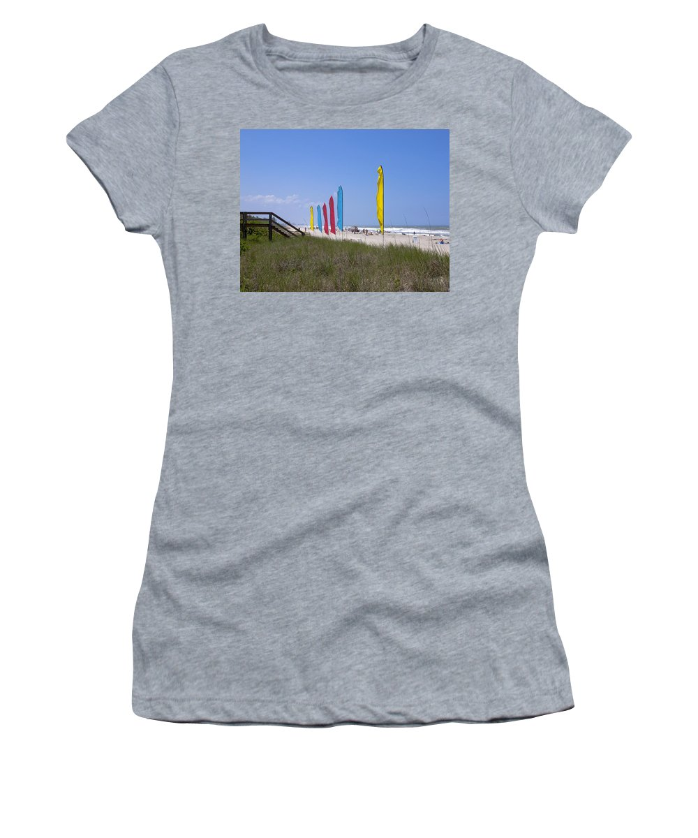 Florida Women's T-Shirt (Athletic Fit) featuring the photograph Florida Beach On The Atlantic by Allan Hughes