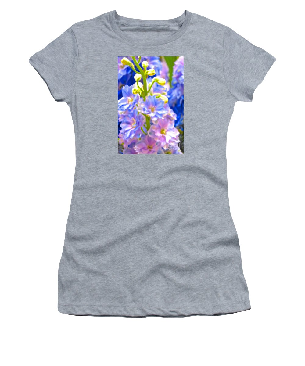 Flowers Women's T-Shirt (Athletic Fit) featuring the photograph Flowers 40 by Ken Lerner