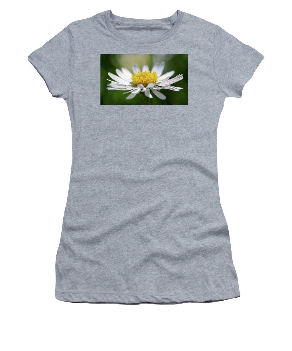 Bokeh Women's T-Shirt (Athletic Fit) featuring the photograph Flower by Alex Simon