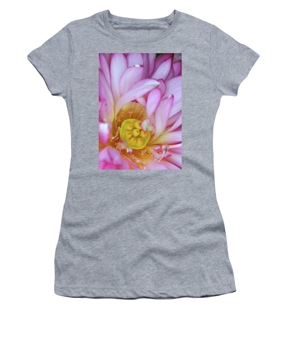 Flower Women's T-Shirt featuring the photograph Flower Center by David Arment