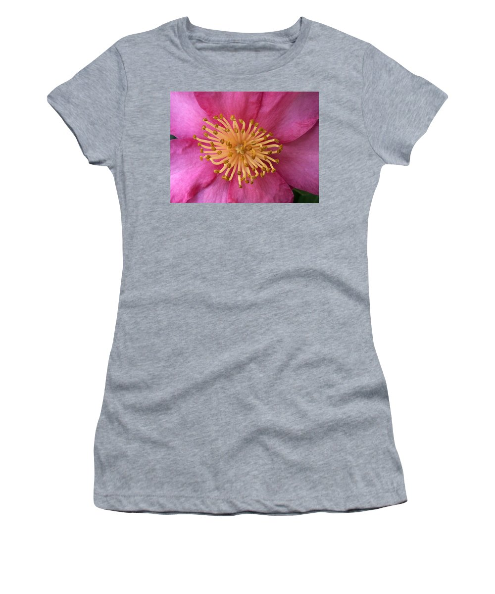 Flowers Women's T-Shirt (Athletic Fit) featuring the photograph Flower Macro by Amy Fose