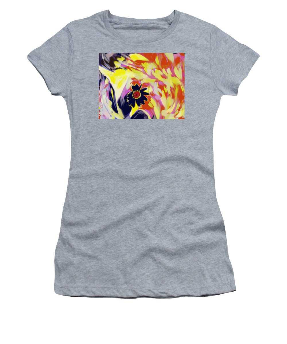 Flower Women's T-Shirt (Athletic Fit) featuring the digital art Flower On The Beach by Ian MacDonald