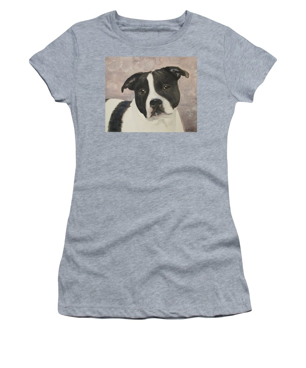 Dog Women's T-Shirt (Athletic Fit) featuring the painting For Me by Ally Benbrook