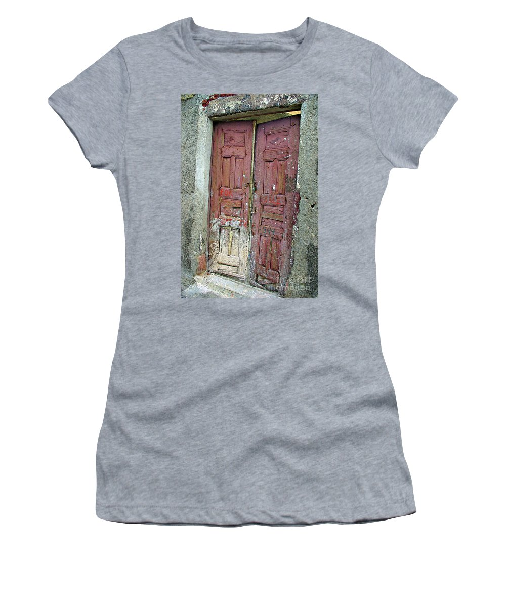Greece Women's T-Shirt featuring the photograph For Sale At 544 by Rich Walter