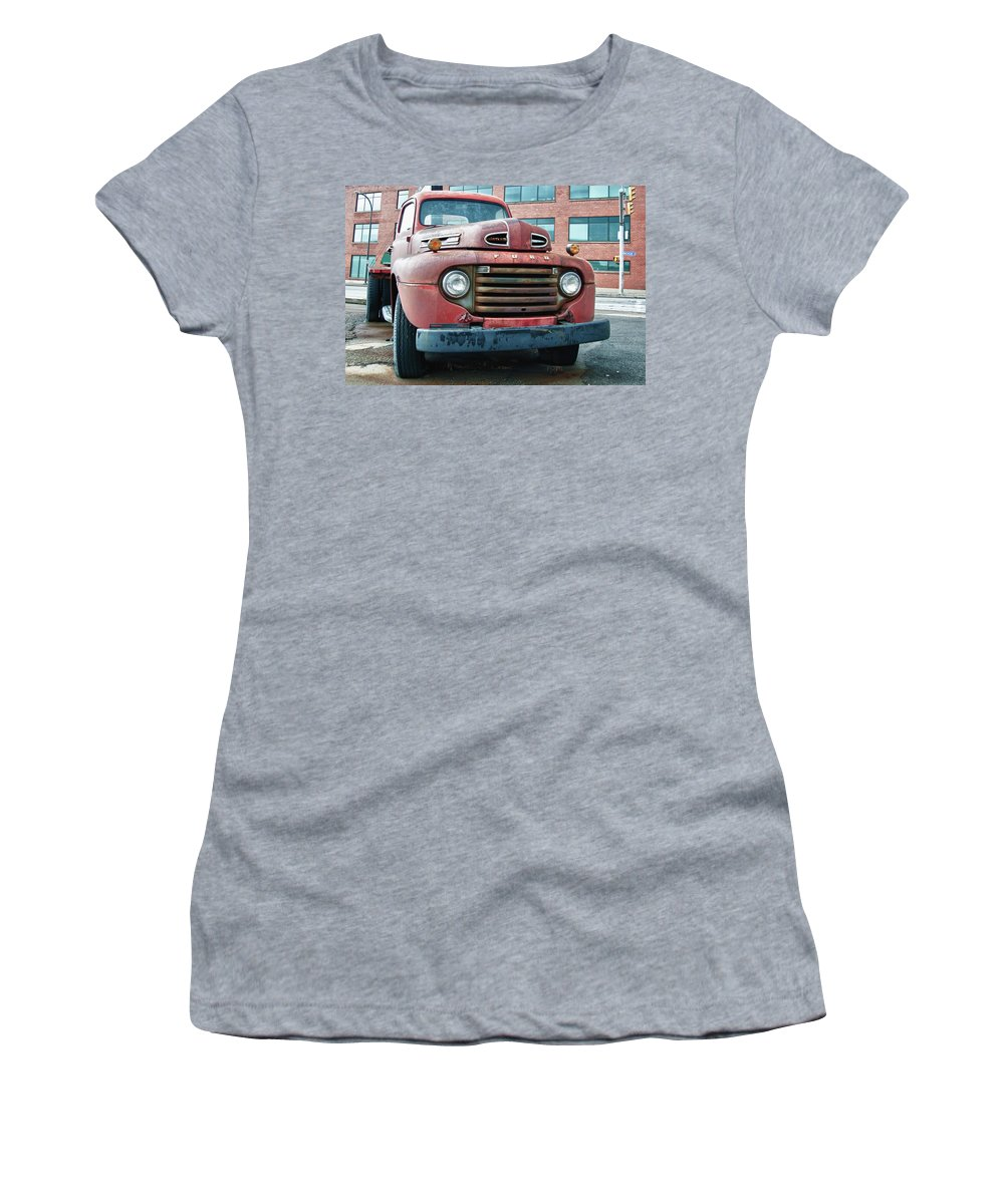 Antique Car Women's T-Shirt (Athletic Fit) featuring the photograph Ford 4625 by Guy Whiteley