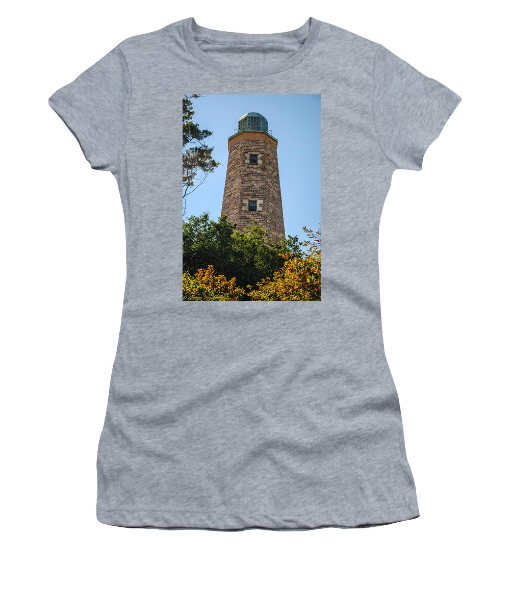 Fort Story Women's T-Shirt featuring the photograph Fort Story Light House by George Fredericks
