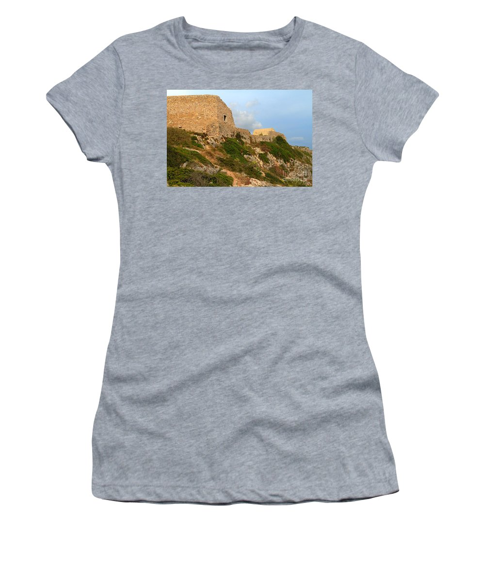 Fortress Women's T-Shirt featuring the photograph Fortress Belixe by Louise Heusinkveld