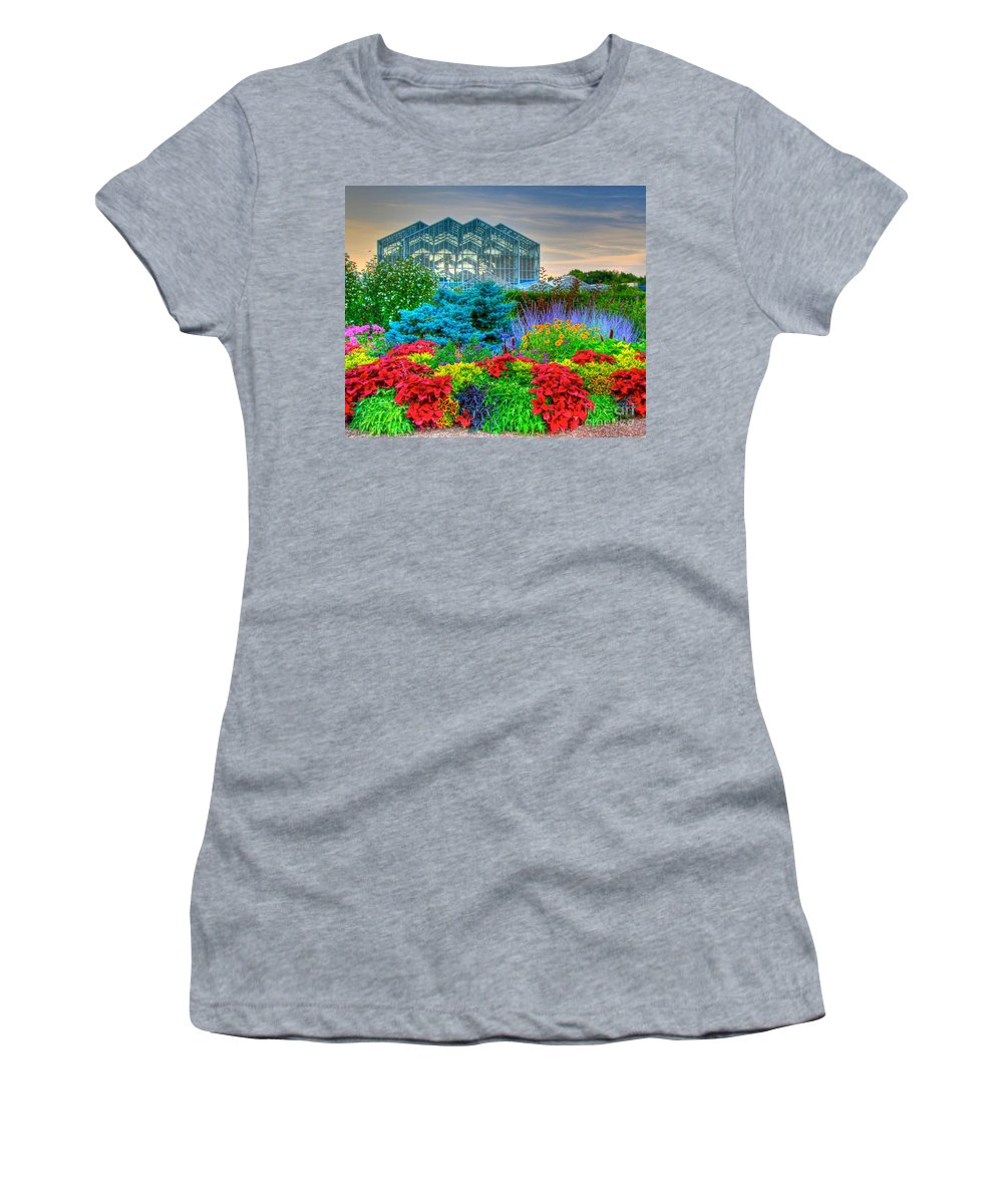 Grand Rapids Michigan Women's T-Shirt (Athletic Fit) featuring the photograph Frederik Meijer Gardens-2 by Robert Pearson