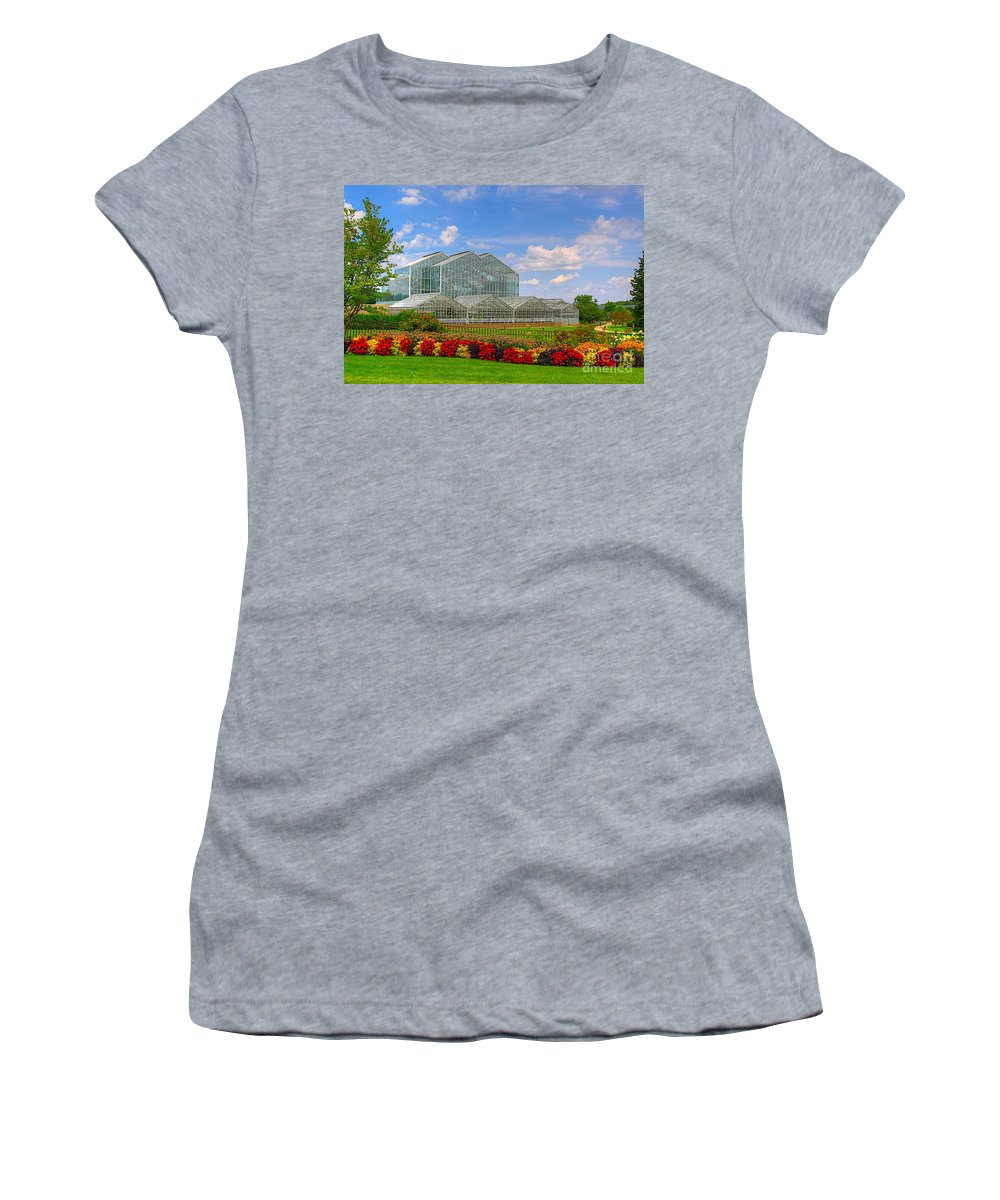 Related Tags: Women's T-Shirt (Athletic Fit) featuring the photograph Frederik Meijer Gardens-3 by Robert Pearson