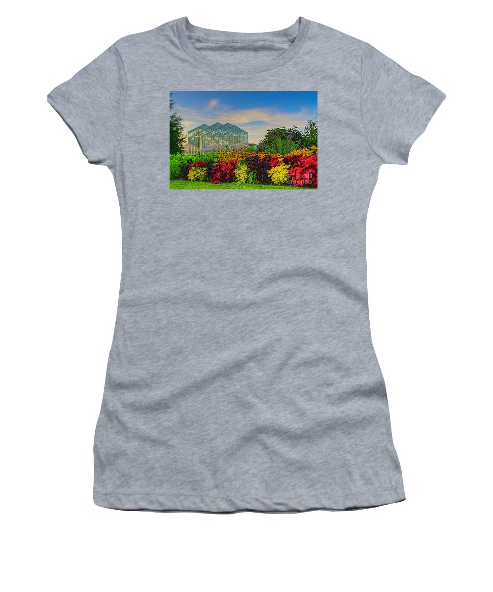 Related Tags: Women's T-Shirt (Athletic Fit) featuring the photograph Frederik Meijer Gardens by Robert Pearson