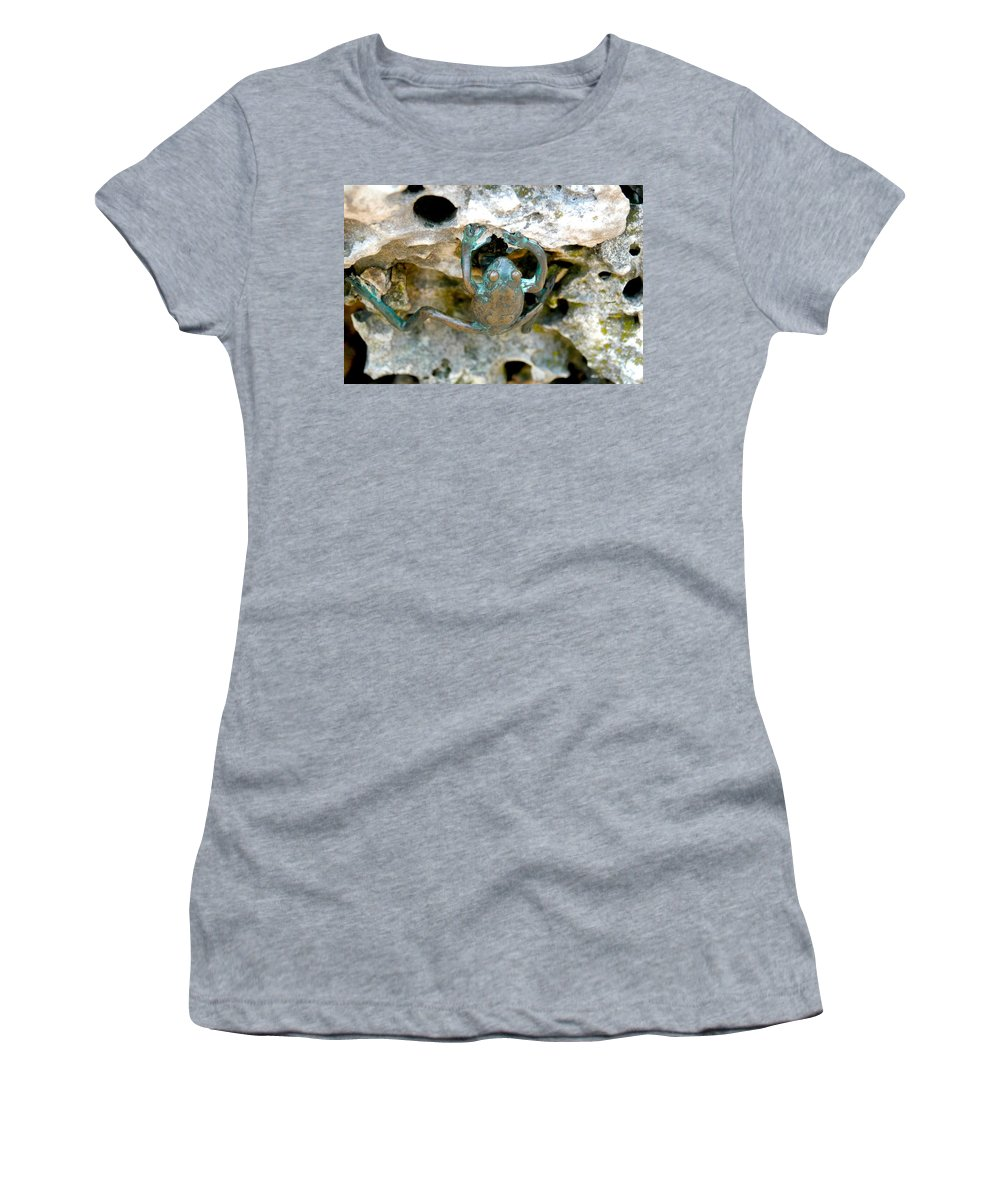 Frog Women's T-Shirt featuring the photograph Frog Sculpture by Dale Chapel