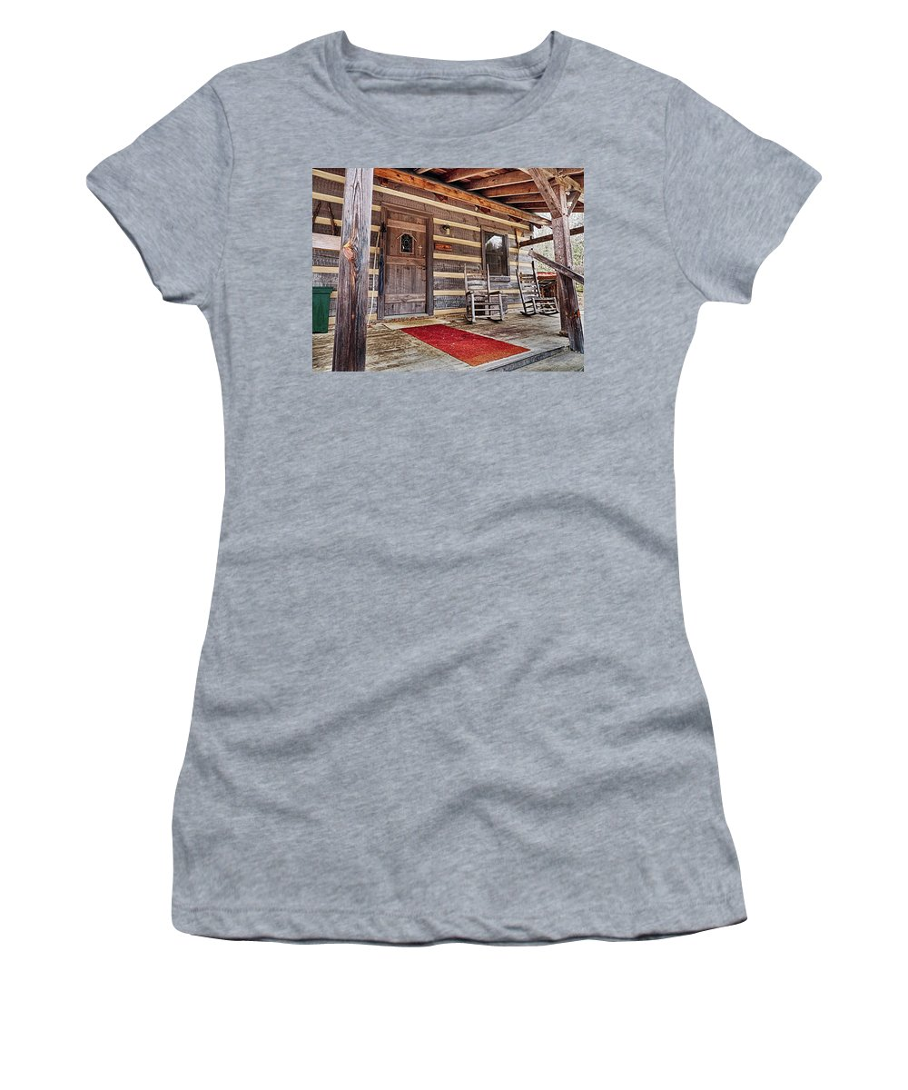 Porch Women's T-Shirt featuring the photograph Front Porch by Gale Miko