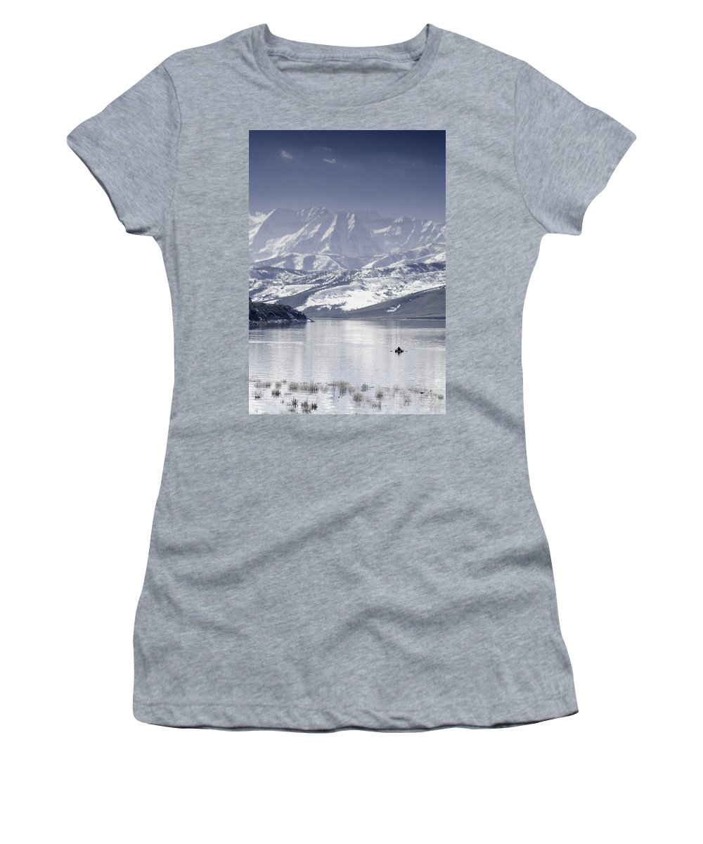 Mountains Women's T-Shirt (Athletic Fit) featuring the photograph Frosted Mountains by Scott Sawyer