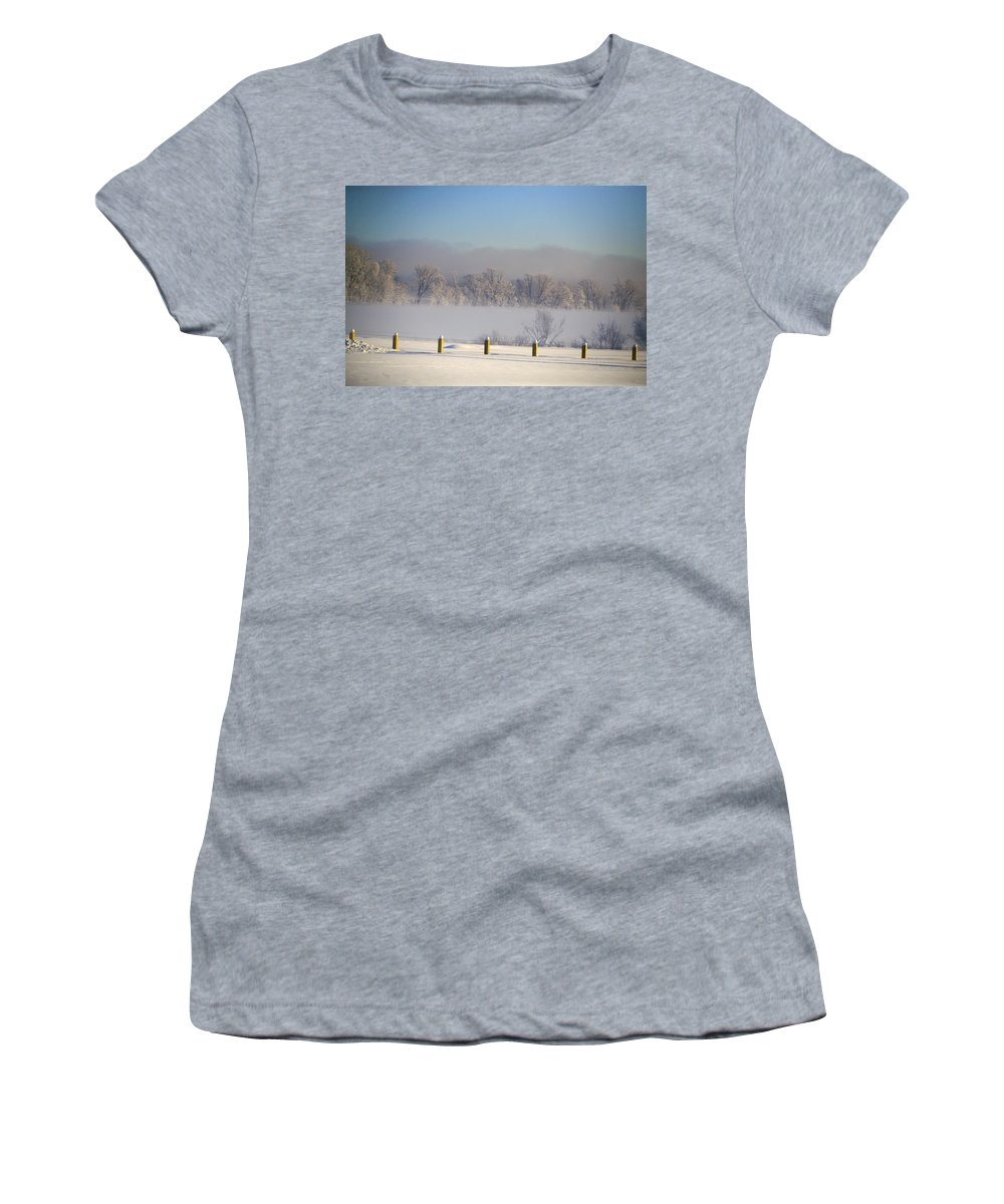 Winter Women's T-Shirt (Athletic Fit) featuring the photograph Frozen Fog by Robert Pearson