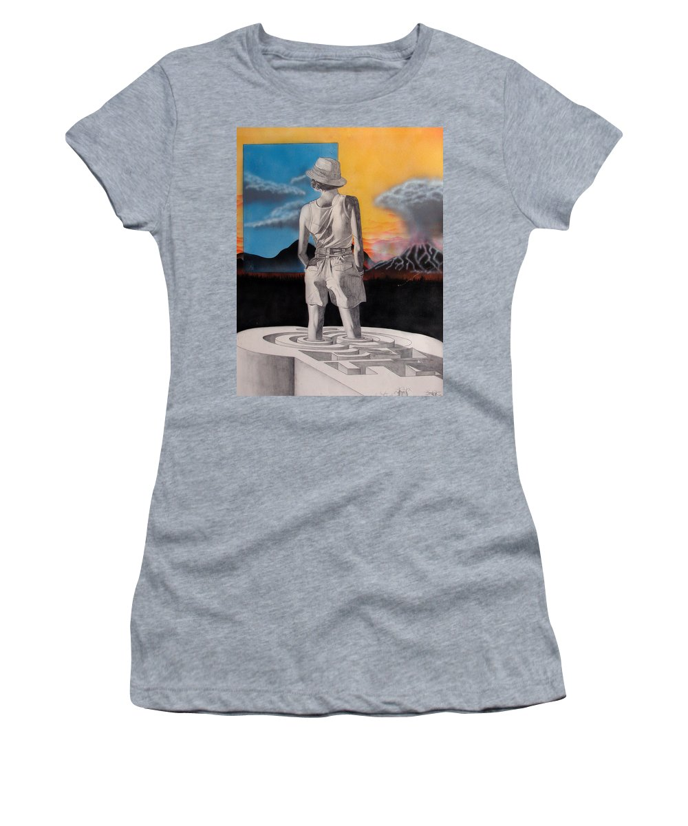 Shaun Women's T-Shirt featuring the painting Future by Shaun McNicholas