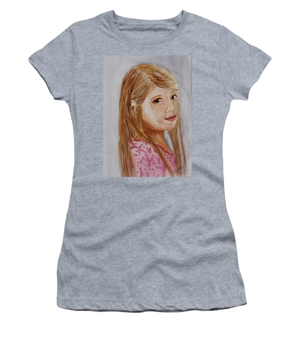 Gabriella Women's T-Shirt (Athletic Fit) featuring the painting Gabriella by Donna Walsh