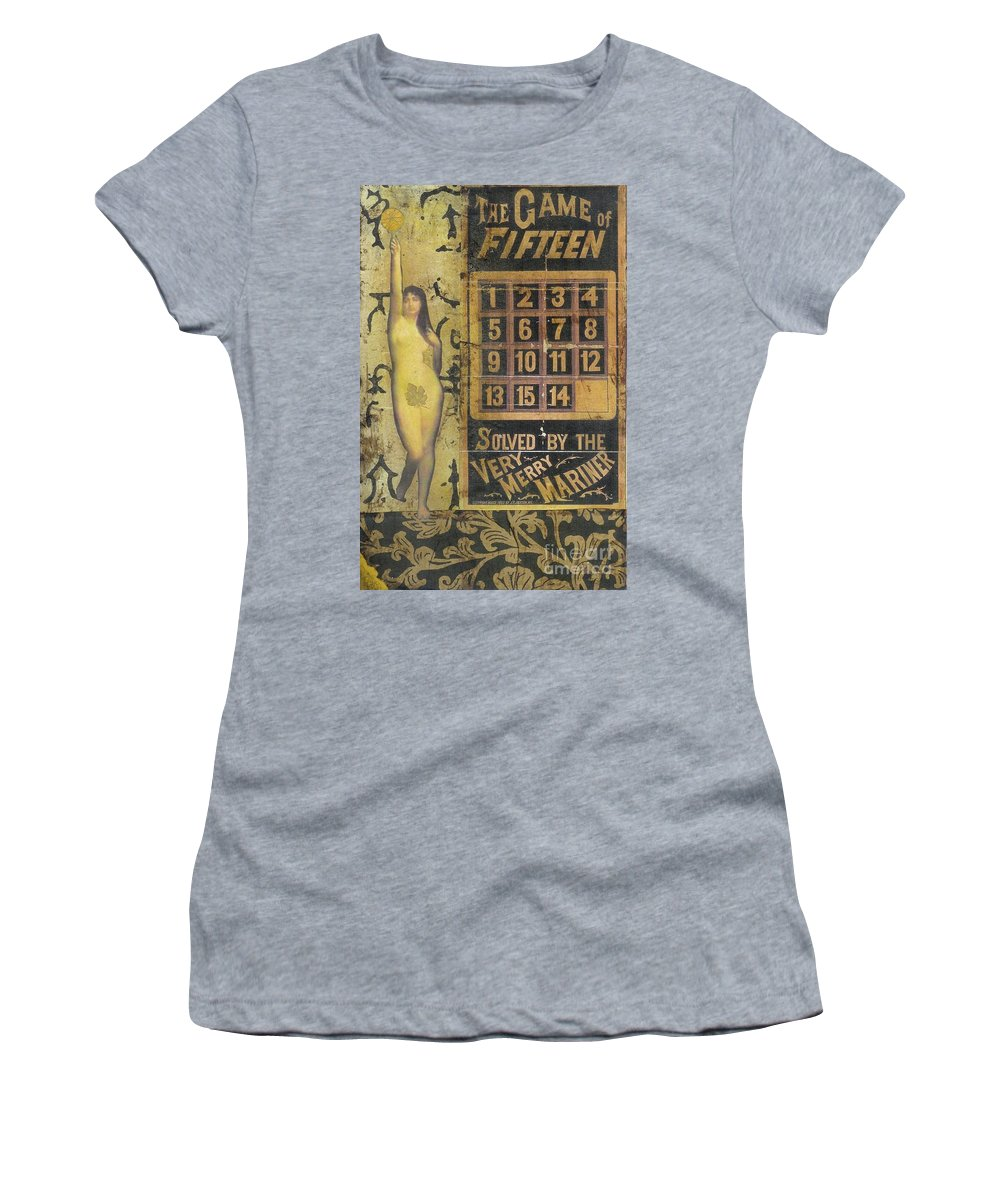 Vintage Women's T-Shirt (Athletic Fit) featuring the mixed media Game Of Fifteen by Desiree Paquette