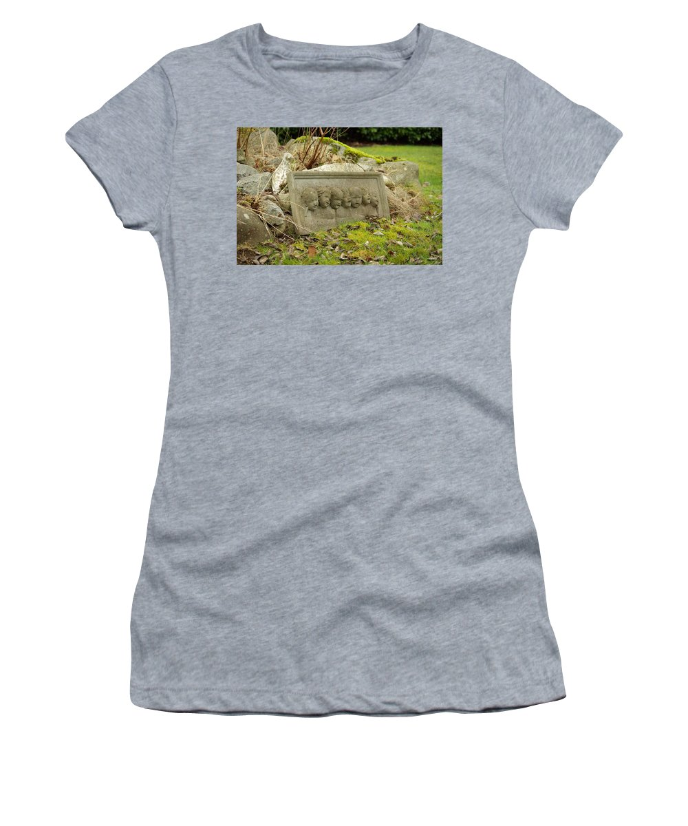 Garden Women's T-Shirt (Athletic Fit) featuring the photograph Garden Babies II by Cindy Johnston