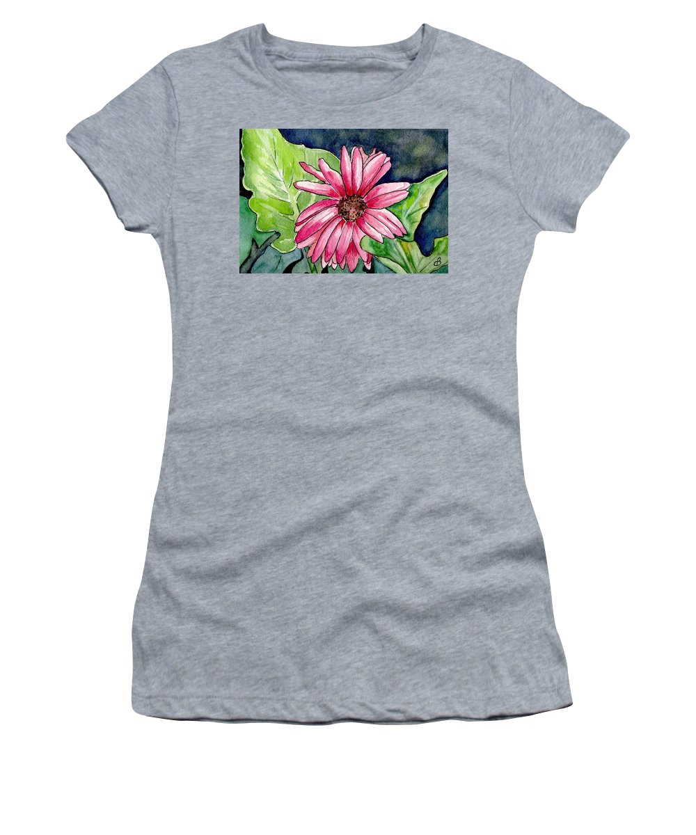 Flower Women's T-Shirt (Athletic Fit) featuring the painting Garden Flower by Brenda Owen