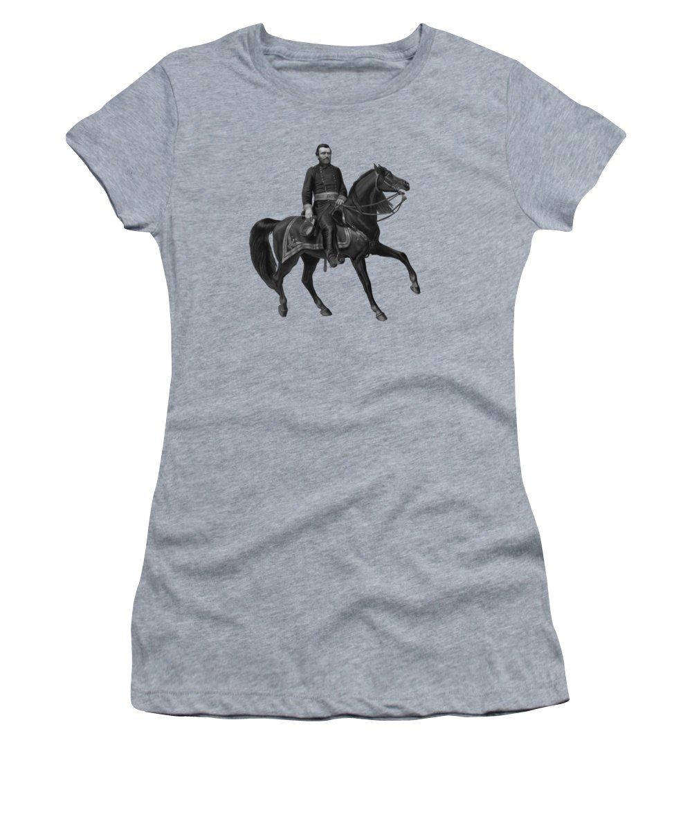 Civil War Women's T-Shirt (Athletic Fit) featuring the painting General Grant On Horseback by War Is Hell Store