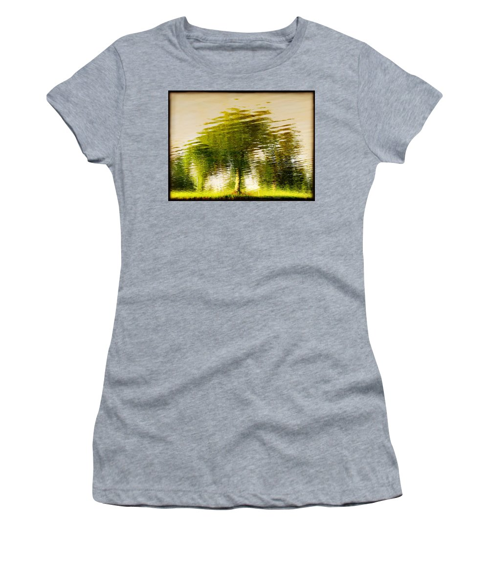 Abstract Women's T-Shirt (Athletic Fit) featuring the photograph Gentle Sun by Dana DiPasquale