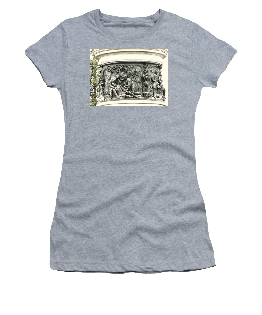 Gettysburg Women's T-Shirt (Athletic Fit) featuring the photograph Gettysburg Monument by Eric Schiabor