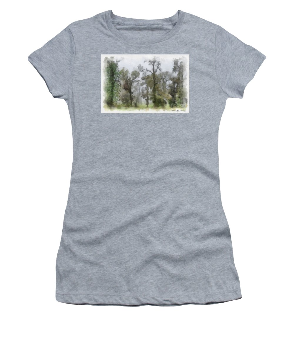 Ghost Women's T-Shirt (Athletic Fit) featuring the photograph Ghostly Images by Paulette B Wright