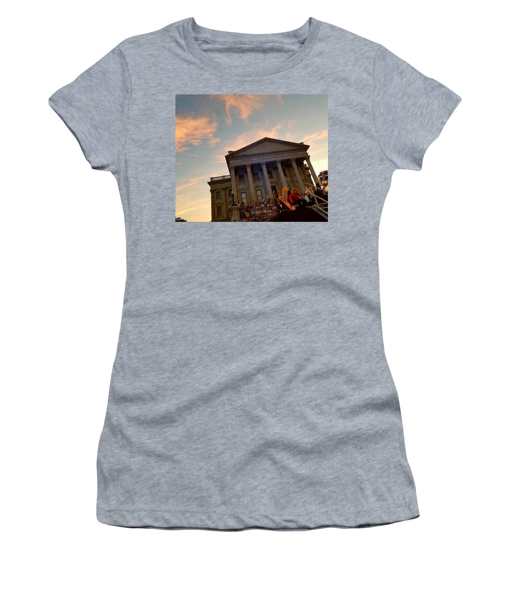 Orchestra Women's T-Shirt featuring the photograph Glowing Harp by Amy Regenbogen