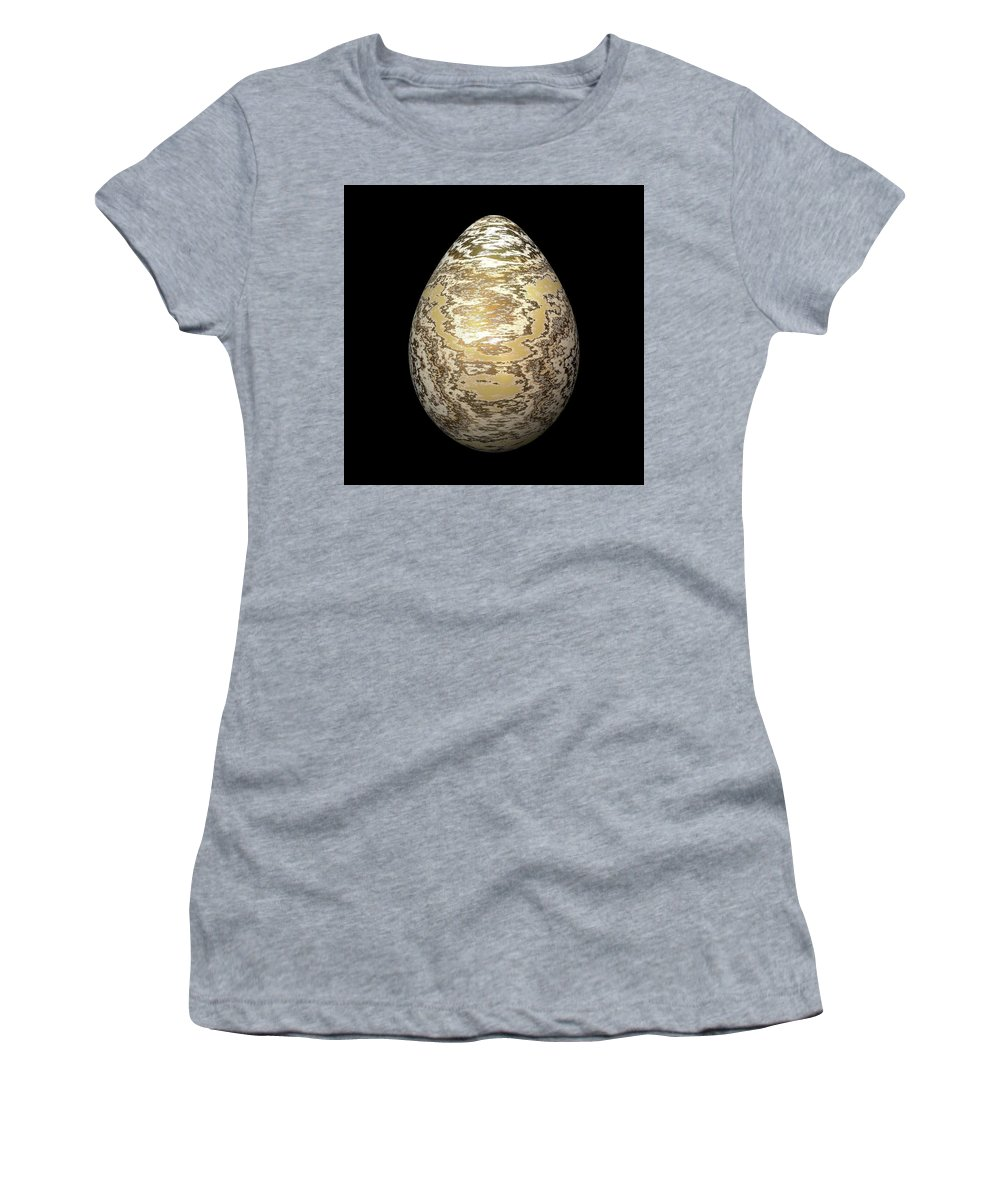 Series Women's T-Shirt (Athletic Fit) featuring the digital art Gold-speckled Egg by Hakon Soreide